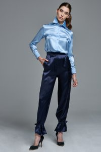 Wide leg Trousers with optional ties